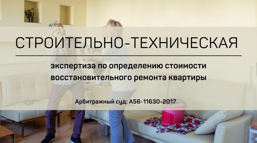 Строительно-техническая экспертиза по установлению причинно-следственной связи между заливом квартиры и повреждениями имущества